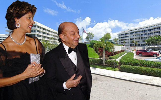 Shahla and Hushang Ansary with Sun and Surf One Hundred building in Palm Beach (Getty, Google Maps)