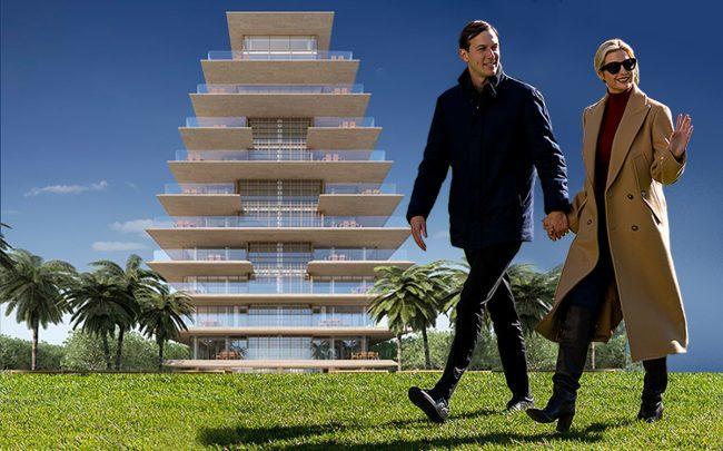 Jared Kushner and Ivanka Trump with Arte Surfside (Getty, Arte)
