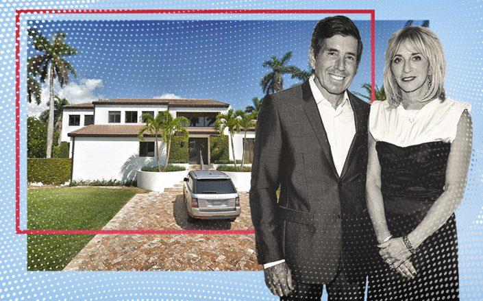 Richard Bressler and Lisa Gersh with 1425 West 25th Street, Miami Beach (Getty, Google Maps)