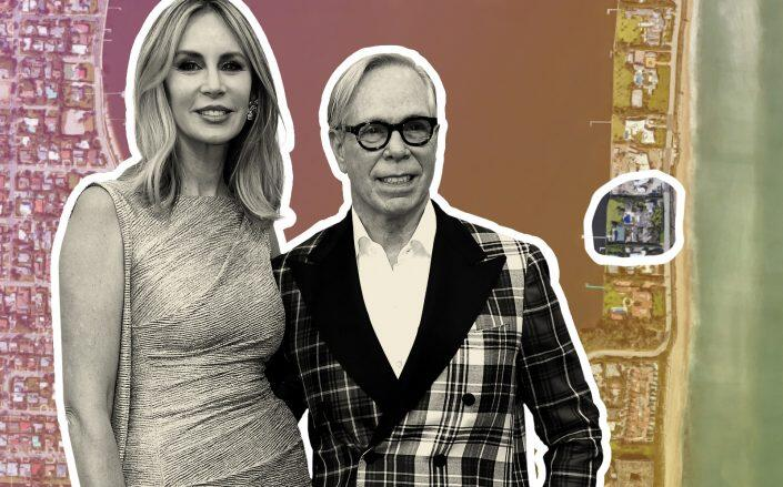 Tommy Hilfiger and his wife Di Okleppo Hilfiger with Palm Beach location (Google Maps, Getty)