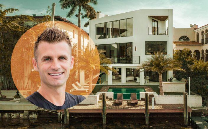 Pacaso CEO Austin Allison and one of their Miami listings (Pacaso)