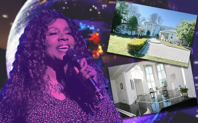 Gloria Gaynor and 17 Fairway Drive (Credit: Getty Images)