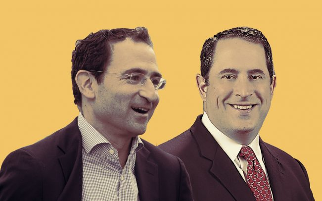 Blackstone President and COO Jonathan Gray and Stearns Lending CEO David Schneider (Credit: Getty Images)