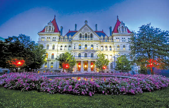 The capitol building in Albany,