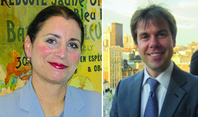 Donna Olshan of Olshan Realty and Michael Graves of Elliman