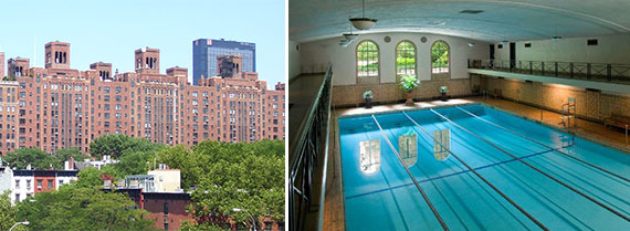 London Terrace in Chelsea and the pool at the building