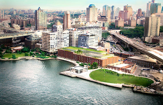 Rendering of Empire Stores in Dumbo (Credit: STUDIO V Architecture)