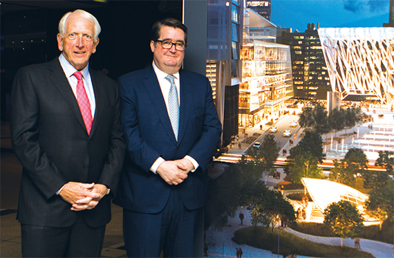 Kenneth Himmel and R. Webber Hudson are leading the leasing effort for the Hudson Yards retail space