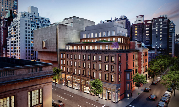 A rendering of the Whitney condos at 33 East 74th Street