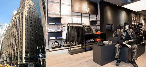 From left: 501 Madison Avenue and Porsche Design's Soho location at 465 West Broadway
