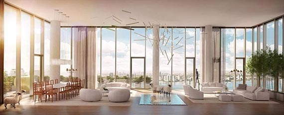 Rendering of the remaining penthouse at 56 Leonard Street