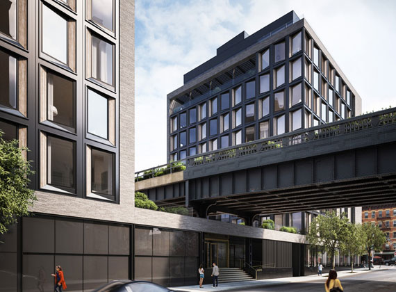 A rendering of 505 West 19th Street