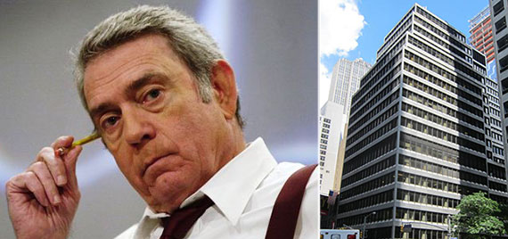 From left: Dan Rather and 1180 Avenue of the Americas
