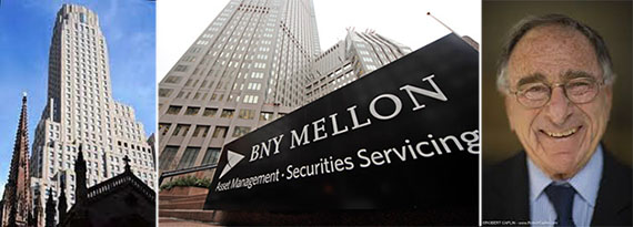 From left: Bank of New York Mellon's headquarters and Harry Macklowe