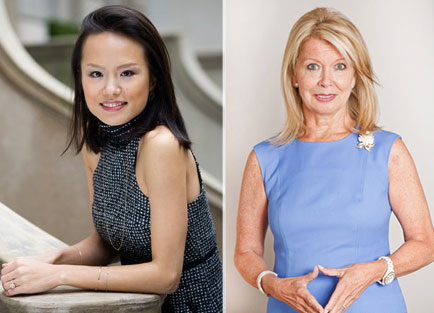 From left: Theresa Wu and Nikki Field