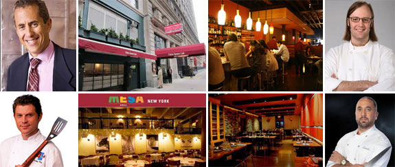 Clockwise from left: Danny Meyer and the Union Square Cafe,