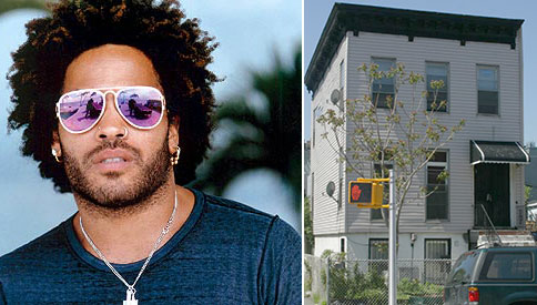 From left: Lenny Kravitz and 368 Throop Avenue