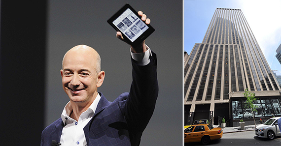 From left: Amazon CEO Jeff Bezos and 1133 Avenue of the Americas