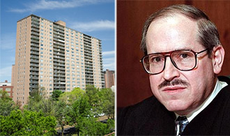 From left: Trump Village Apartments and Arthur Schack