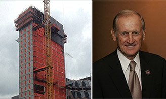 From left: Baccarat Hotel and Residence construction and Richard Anderson