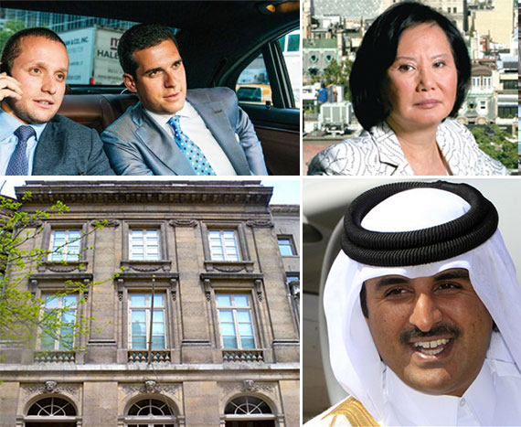 From left: Tal Alexander, Oren Alexander, Carrie Chiang, Sheikh Tamim bin Hamad Al Thani and 19 East 64th Street
