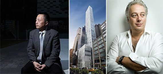 From left: Yu Liang, 610 Lexington Avenue and Aby Rosen