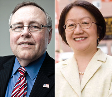 From left: Steven Spinola and Margaret Chin