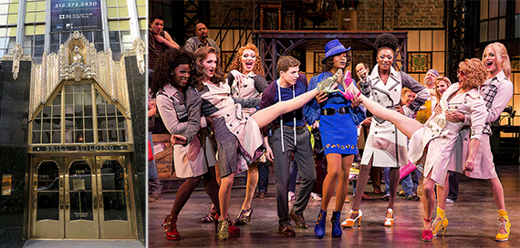 From left: the Brill Building and Kinky Boots on Broadway