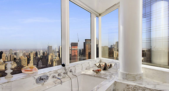 View from the WC at 80 Columbus Circle