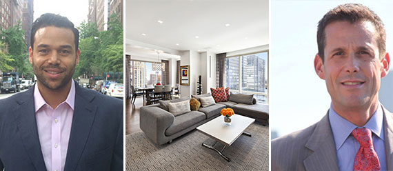 From left: Jarrod Guy Randolph, his $21 million listing at 845 United Nations Plaza and Jeff Appel