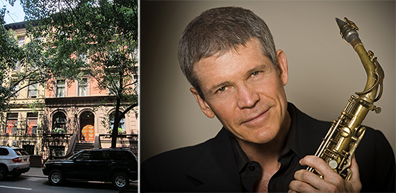 From left: 135 West 69th Street and David Sanborn