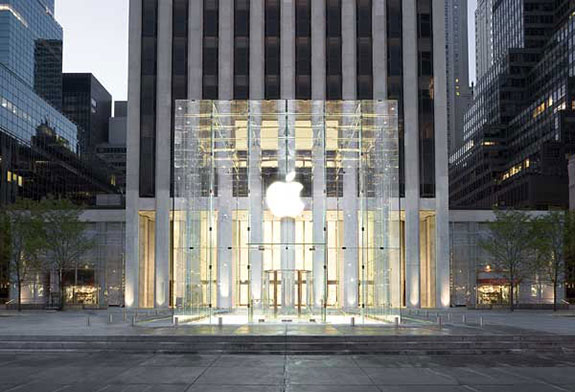 The Apple Store on Fifth Avenue