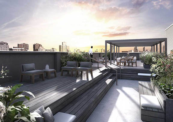 Rendering of Huys, a Dutch-designed luxury building