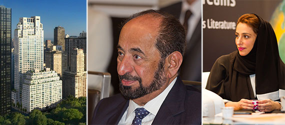 From left: 15 Central Park West, Sultan A Alqasimi and Bodour Alqasimi