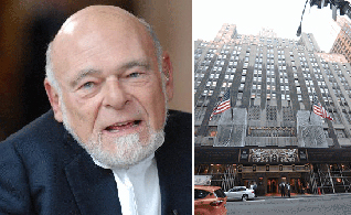From left: Sam Zell and the Waldorf-Astoria in Manhattan