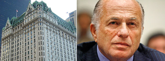 From left: the Plaza Hotel and Doug Morris