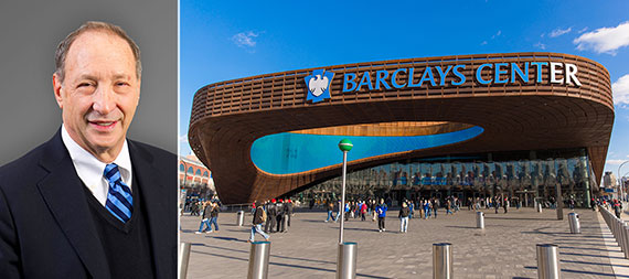 From left: Bruce Ratner and the Barclays Center