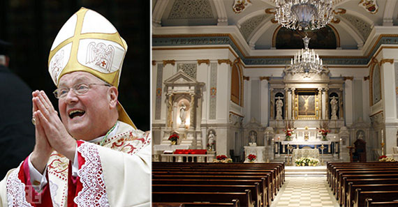 From left: Cardinal Timothy Dolan and St. Peter's Catholic Church