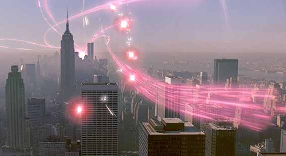 "Gotham as the backdrop in the ""Ghostbusters"" films"