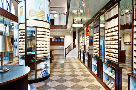 The Warby Parker showroom at 1290 Lexington Avenue