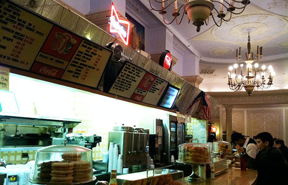 The lunch counter at the iconic Cafe Edison