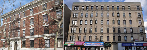 From left: 427 Dean Street in Park Slope and