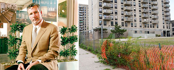From left: Donald Cappoccia and Arlington Terrace on Staten Island