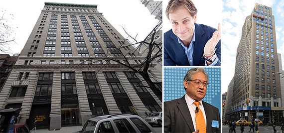 From left: 315 Park Avenue South, Billy Macklowe (top), William Fung and 386 Park Avenue South