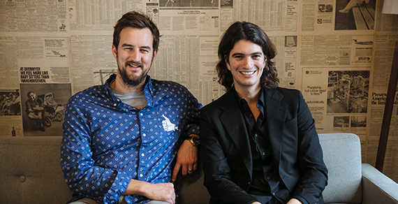 From left: Miguel McKelvey and Adam Neumann