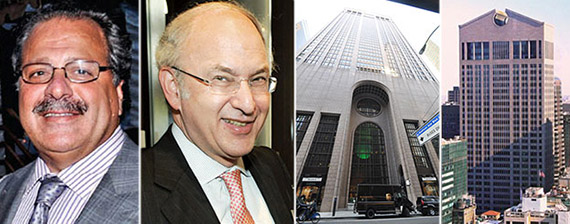 From left: Joseph Chetrit, David Bistricer and 550 Madison Avenue