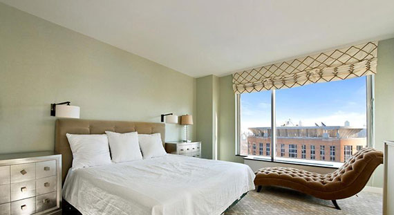 The bedroom at 150 Columbus Avenue
