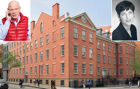 From left: Francis Greenburger, a rendering of 34 Prince and Abby Hamlin