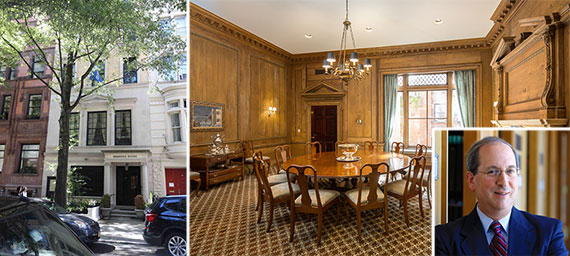 Brandeis House at 12 East 77th Street and Fred Lawrence (inset)
