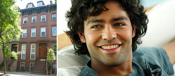 From left: 112 Gates Avenue, Brooklyn and Adrian Grenier
